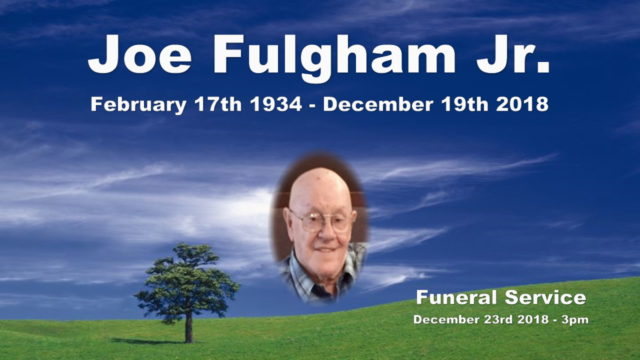 Funeral - Joe Fulgham Jr - December 23rd 2018